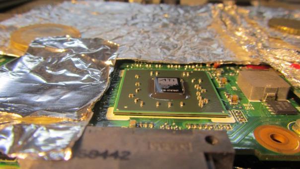 Замена видео чипа ноутбука HP