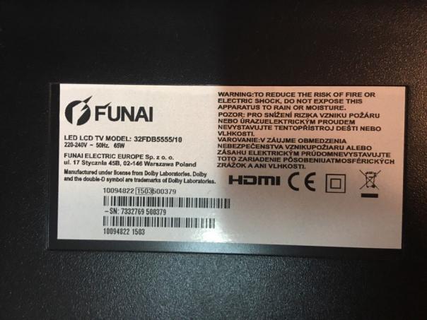 Funai 32fdb5555/10