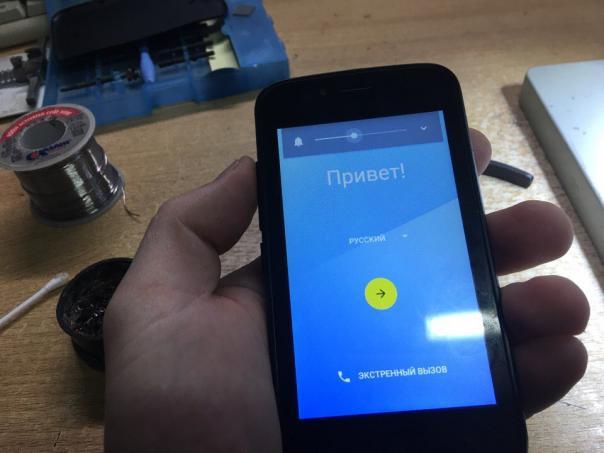 Ремонт телефона vertex impress fit - оторвали шлейф идущий на кнопки