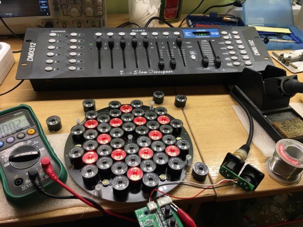 Ремонт световых софитов DJ DMX512