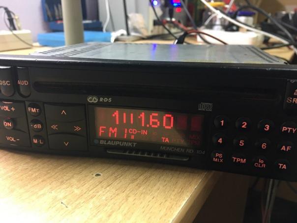 Ремонт магнитолы Blaupunkt RD 104 - не включается!