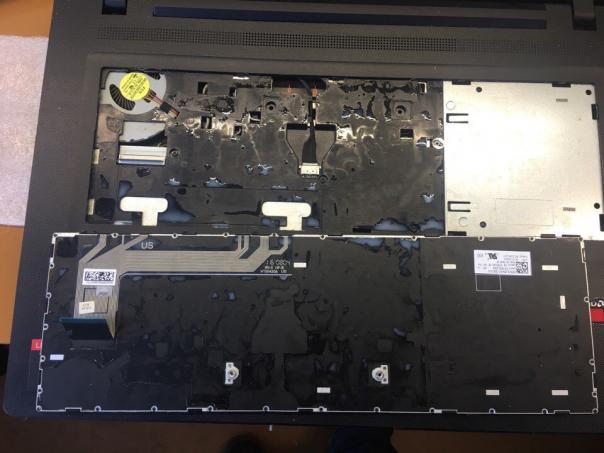 Lenovo ideapad 110-17acl ремонт залитика
