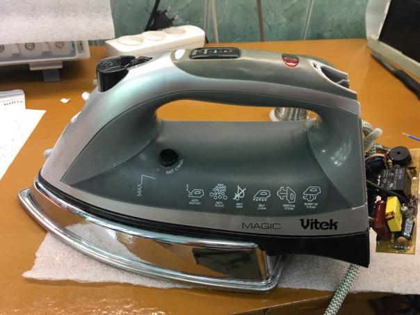 Ремонт утюга Vitek VT-1232 - не включается нагрев!