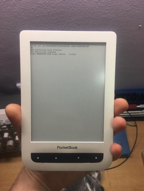 Ремонт электронной книги PocketBook 626- выход из строя внутренней памяти